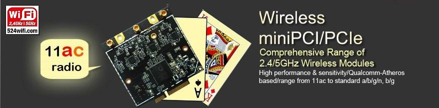 WiFi 4 / 5 modules PCIe / M2M