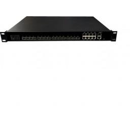 Wodaplug ® 1U8PGE 1U 8PON GEPON OLT, Chipset Cortina CS8032, WEB, CLI, SNMP management