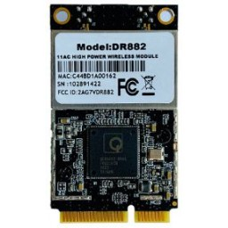 DR882-NAS QCA9882 miniPCIe High Power WiFi radio module, 28dBm, 802.11ac, 5GHz, 2x2MIMO, 2xMMCX, Wallys