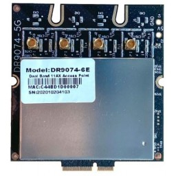 Wallys QCA PN02.7 Single band 6GHz QCN9074 WIFI 6E (11AX) 4X4 MU-MIMO WIFI MODULE, M.2 E key