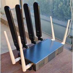 5G NR 4G Dual SIM dual modules ROUTER LTE-A MTK7621 4xLAN 1xWAN 12x antena 1xM.2 USB3 3xMiniPCIe H721 V5G 11ac WiFi metal case