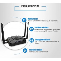 LTE router 4G 2.4GHz 5GHz 802.11b/g/n/ac MT7621 1SIM 1SDcard  1USB 4x5dBi antenna GoldenOrb Rooter OpenWRT