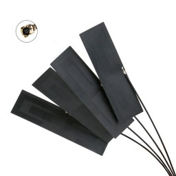 Wodaplug Whip3 3dBi Passive GSM LTE 5G 4G PCB FPC Antenna with pigtail  i-pex4 for MHF4 M.2 LTE modules