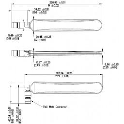 PulseLarsen turbo GSM blade Antenna W5095K for 2G/3G/4G/5G Frequency 698-960/1400-1700/1710-2690MHz 2-5dB