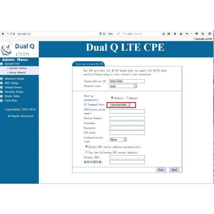Wodaplug ® Dual sim 5G 4G LTE dual module router MTK7621, 4x