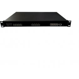 Wodaplug ® 1U4PGE 1U 4PON GEPON OLT, Chipset Cortina CS8032, WEB, CLI, SNMP management