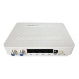 Wodaplug EOC Slave EOC1121R4L, 600Mbps, 4*LAN ,2*F, WEB Management