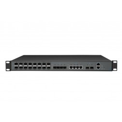 Wodaplug ® WDS1U16PGE 1U 16PON GEPON OLT, PON Cortina CS8032 + Broadcom chipset, 2*10Gb uplink,  WEB, CLI, SNMP management