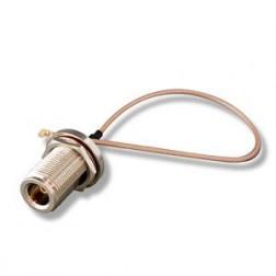 CPX Pigtail RF UltraMini U.FL plug to N female (2cm),20cm, dia1