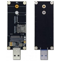 Wodaplug M.2 (NGFF ) to USB 3.0 Computer Adapter with SIM Card Slot for LTE 5G Modules