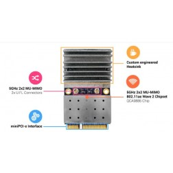 Compex WLE650V5-18 MU-MIMO 2 X 2 802.11ac Wawe 2 MiniPCIe module, 5GHz signle band